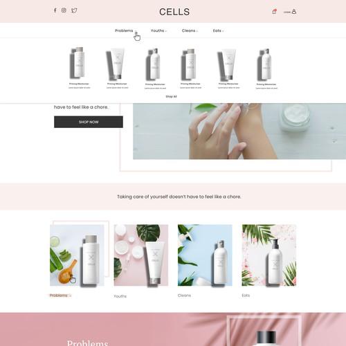 Organic Dermatology/Skincare web design