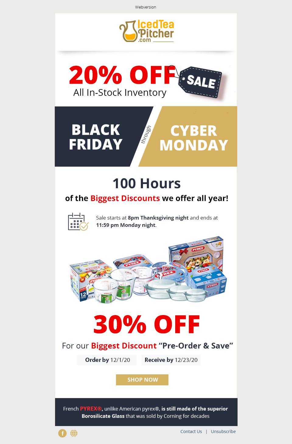Black Friday / Cyber Monday Sale