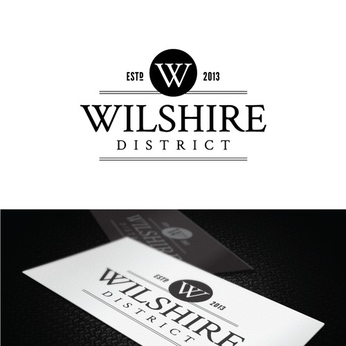 Logo for a tavern named Wilshire District