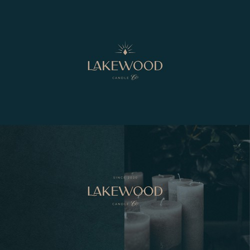Elegant logo for a luxurious candles brand