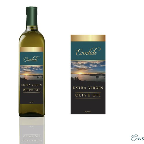 Create a label for an extra virgin olive oil company in New Zealand