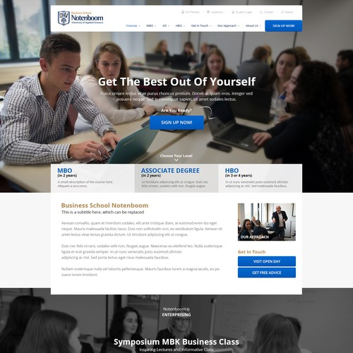 Home page for Business School Notenboom