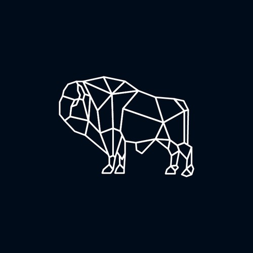 Geometric white bison.