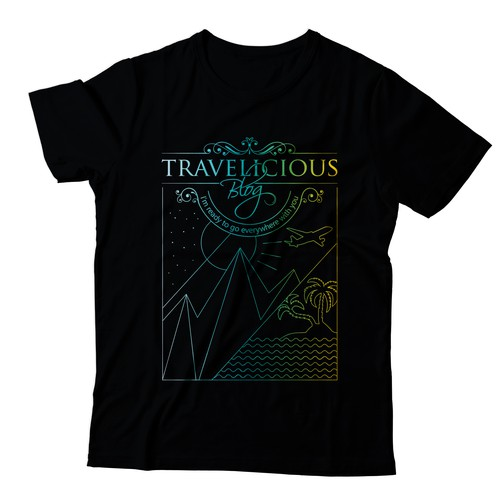 Travelicious Blog T-shirt Design