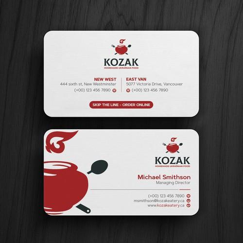 Kozak Business Cards
