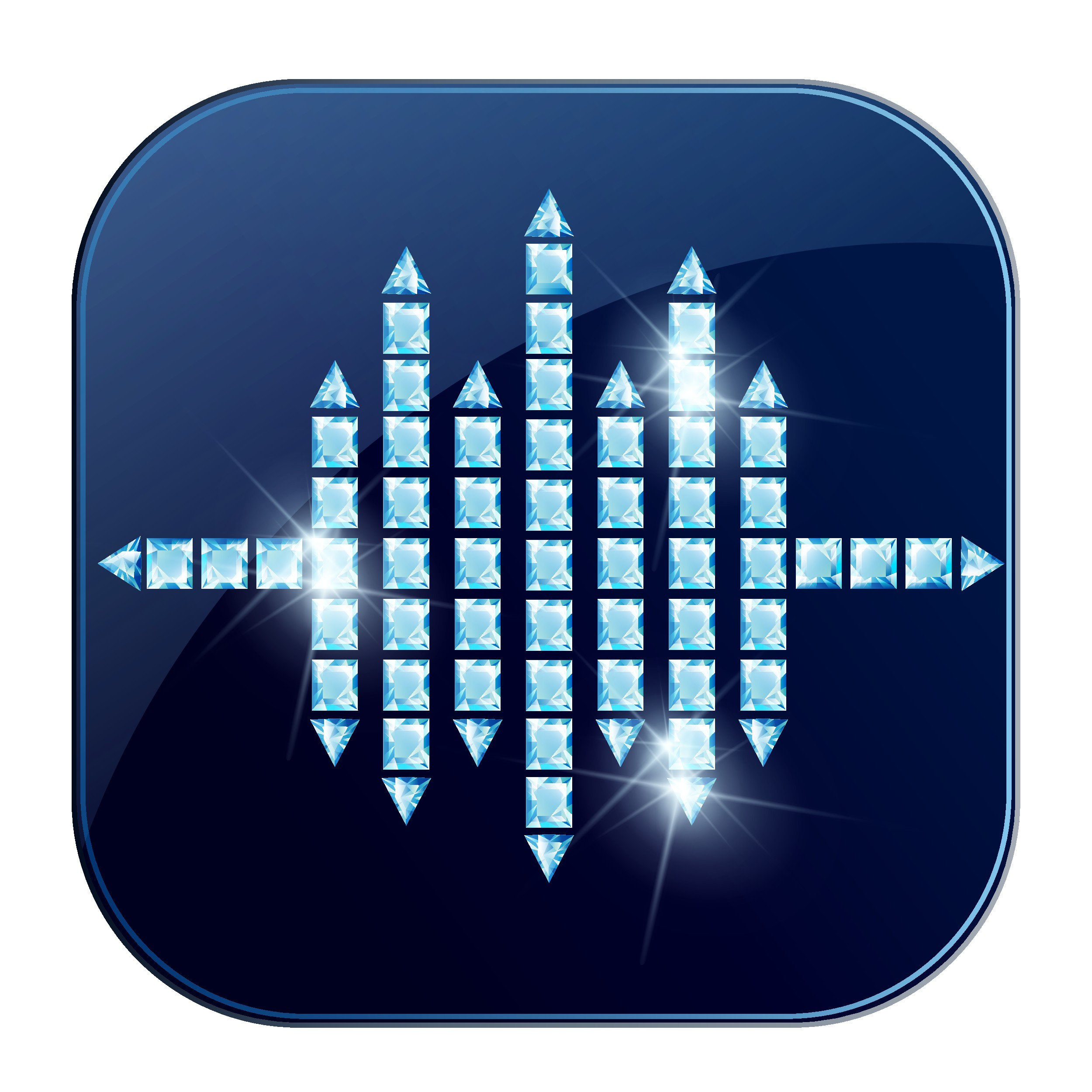Create app icon for Pavé.fm: An upscale audio player for curated music, audiobooks and podcasts