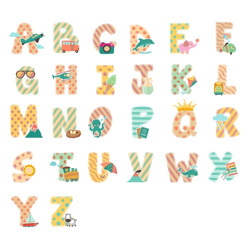 Travel Alphabet illustration