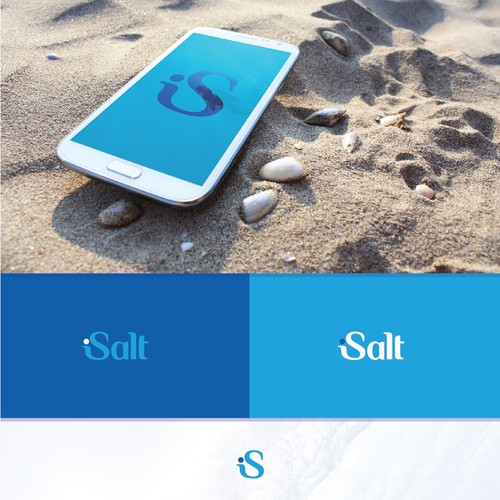 Logo design for saltwater lifestyle app.