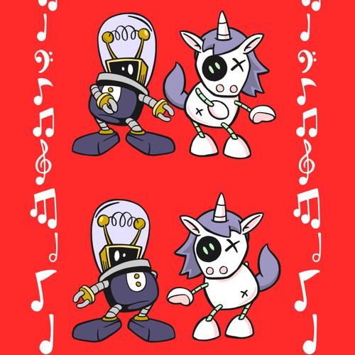 Unicorn and Robot couple