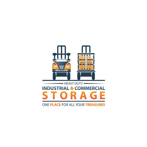 bold logo concept for storage company