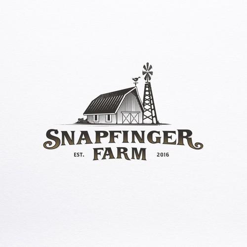 Rustic logo for Snapfinger Farm
