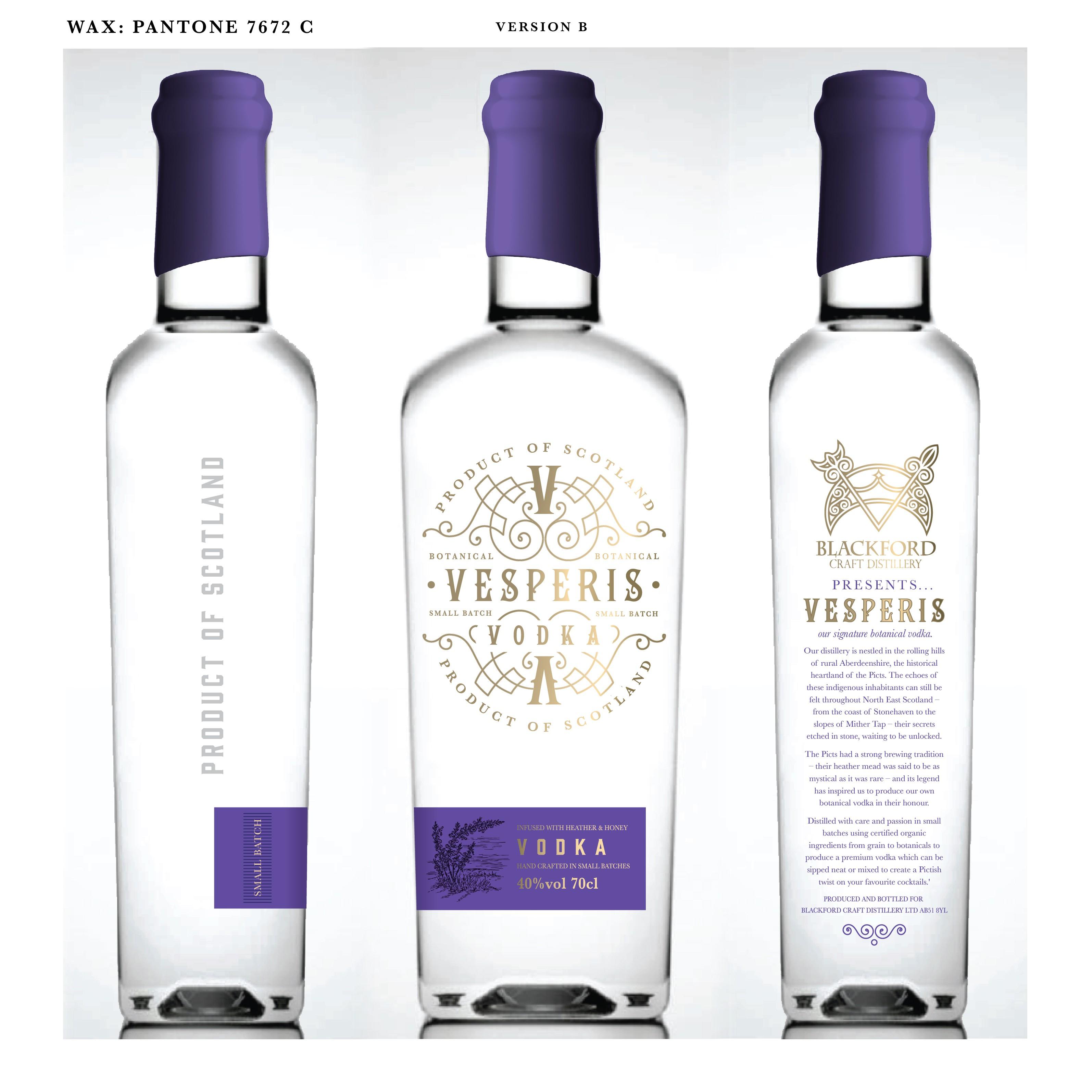 Design label for luxury spirit brand with a Pictish twist!