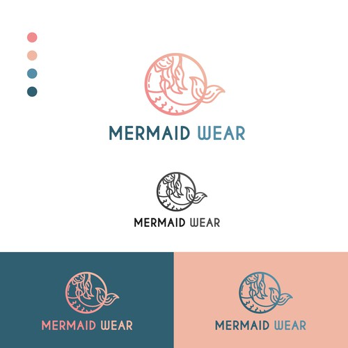 Logo concept for mermaid wear