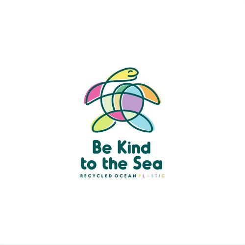 playful turtle logo design