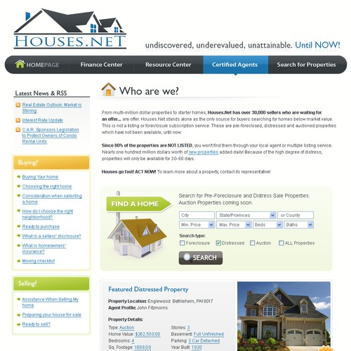 2008 -  Site design for home search service