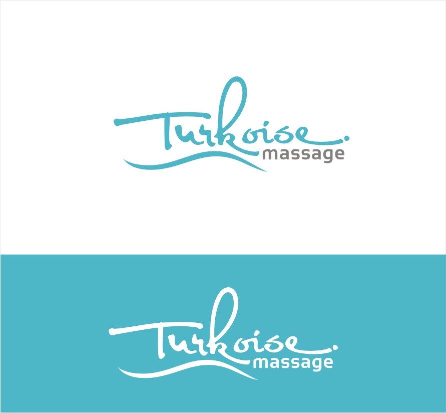 Simple but remembered logo for a Caribbean massage company: Turkoise Massage