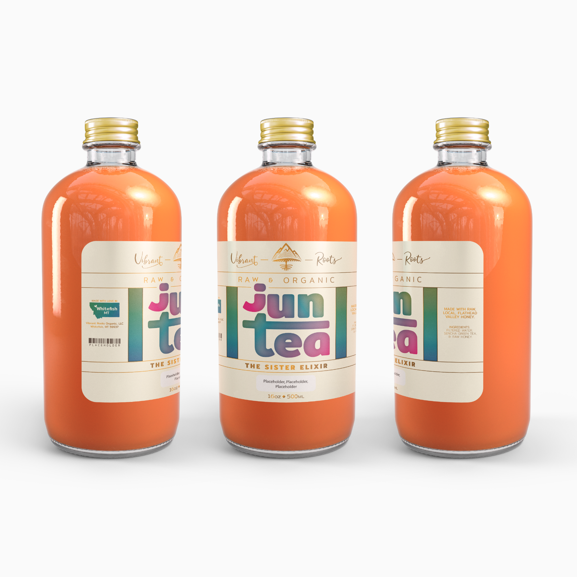 Vibrant Roots Jun Label Design