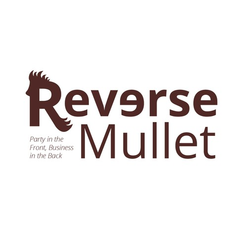 Reverse Mullet Logo - Party in the front, Business in the back.