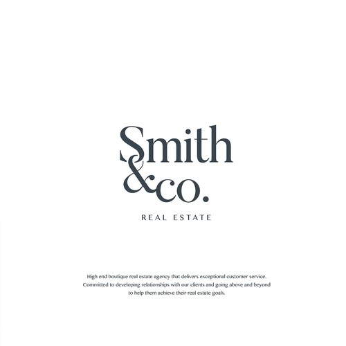 Logo Design for Real estate company Smith&CO