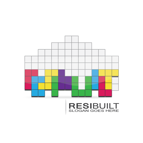 Logo design concept for a building company