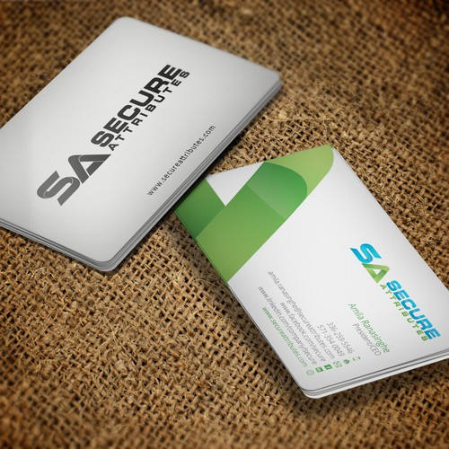 Modern Professional Cybersecurity Business Card