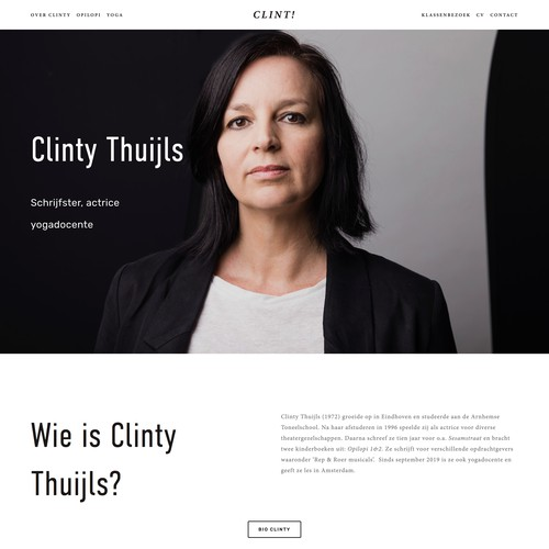 Squarespace website for Dutch writer and Actress