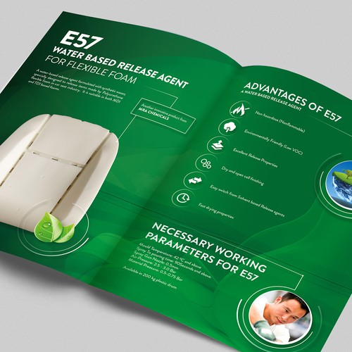 Product brochure for technology company