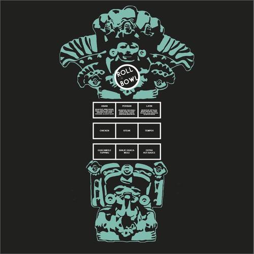 Mayan artwork - menu