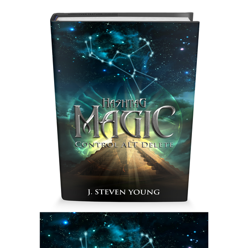 Create a captivating Fantasy Book cover For Hashtag Magic