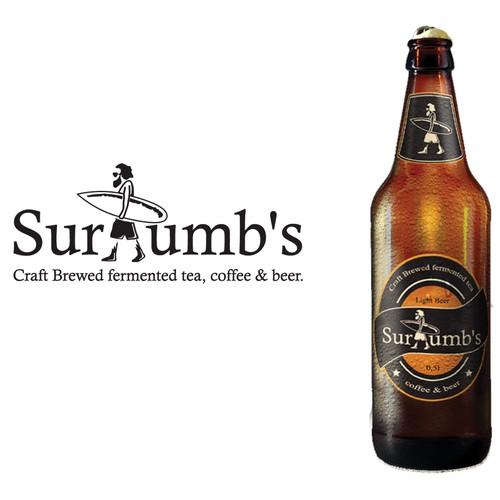Create a capturing vintage surfer logo for Surlumb's