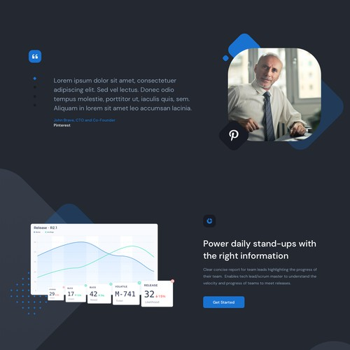 Website presentation for a remote managment tool v2