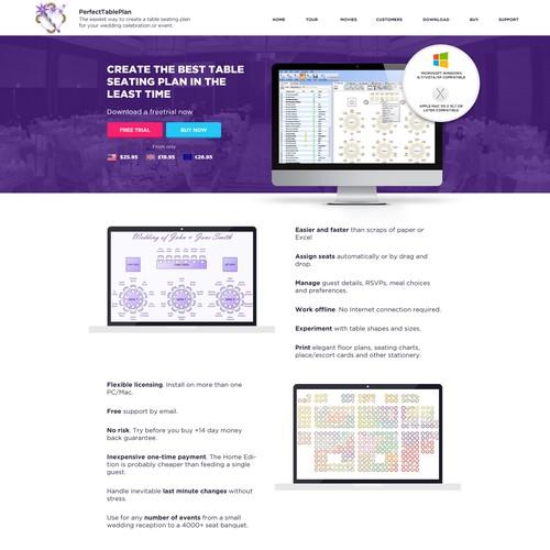 Perfectableplan Homepage Design