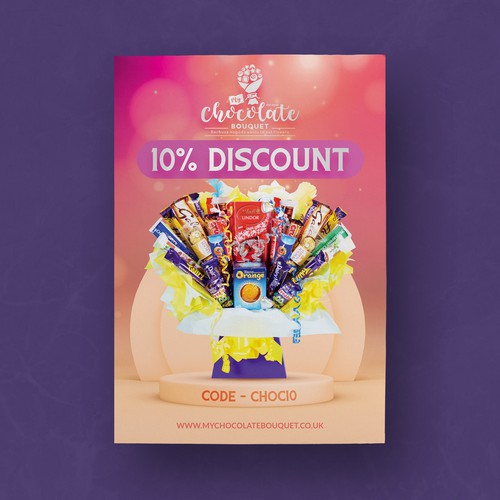 Flyer Design For Chocolate Bouquet company
