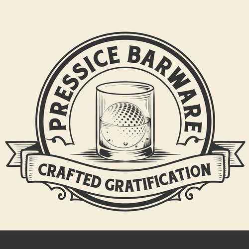Rustic, Smokey, Vintage Masculine Logo For Barware