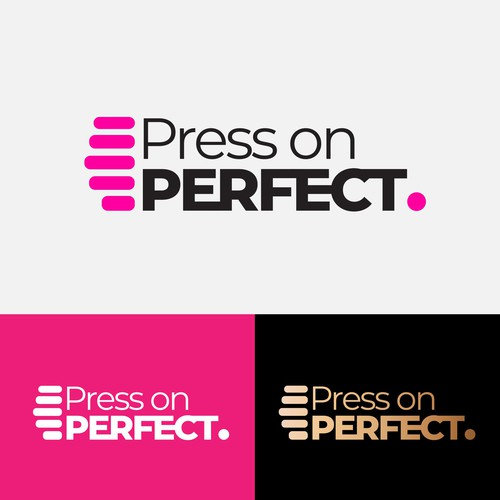 Logo for press on nail brand