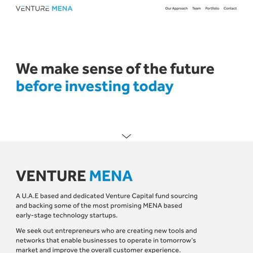Venture Mena | Website Design and Development for a Venture Capital Firm
