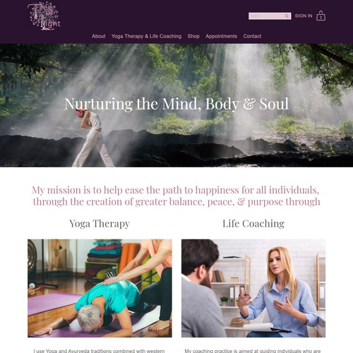 Website Design For Tree of Light