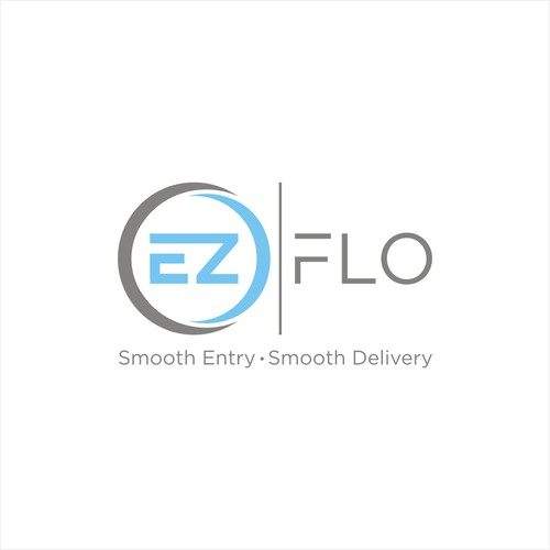 EZ FLO HYPODERMIC NEEDLE LOGO DESIGN