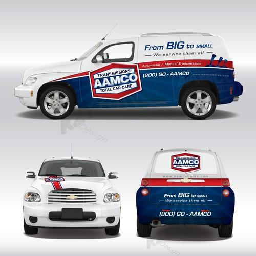Aamco Transmission Van Car Wrap Design