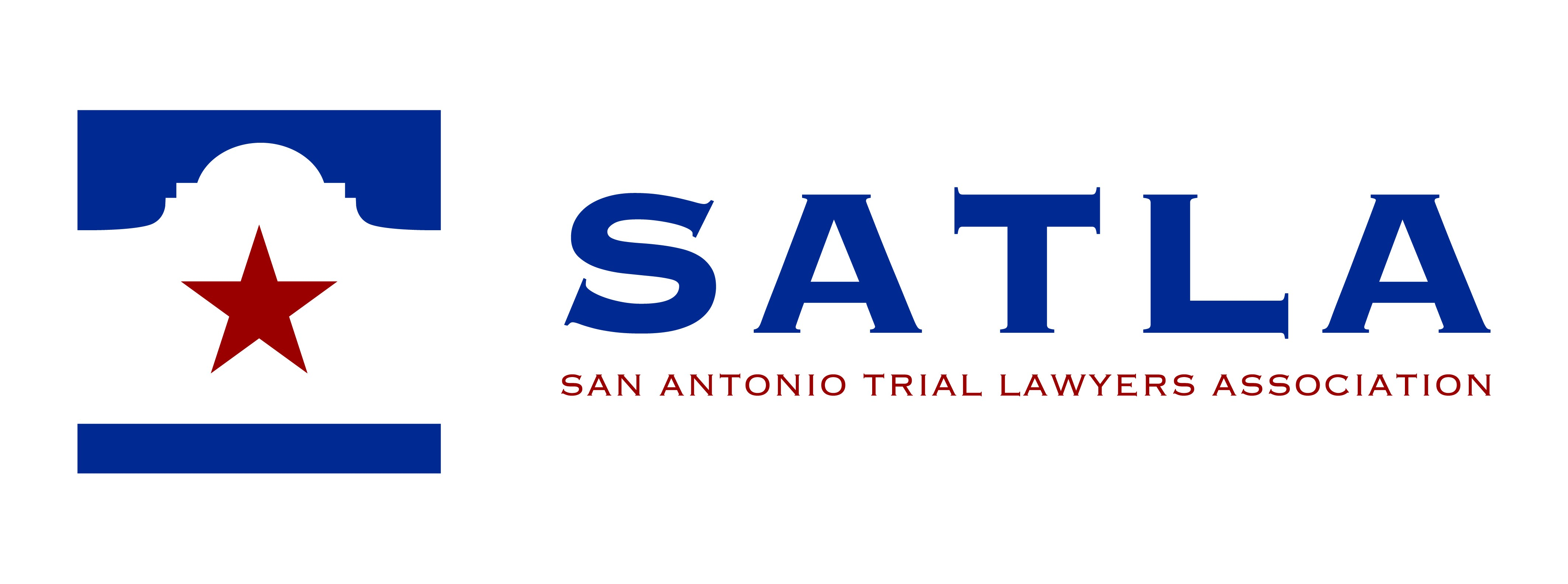 Create a modern logo for a trial lawyers association located in San Antonio, Texas