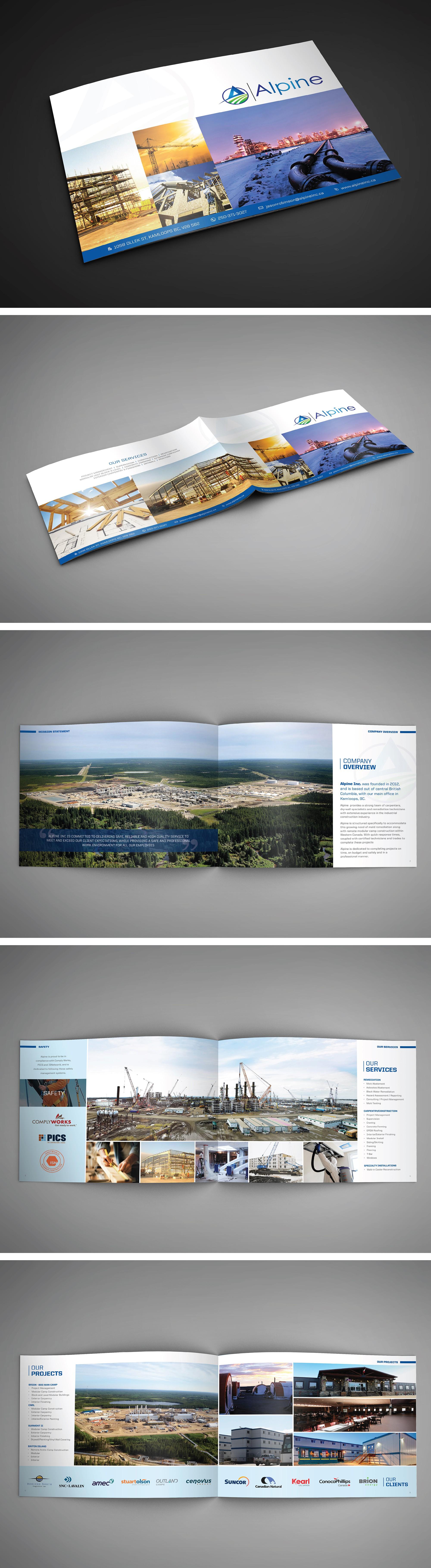 Professional Brochure Booklet for Alpine Inc!