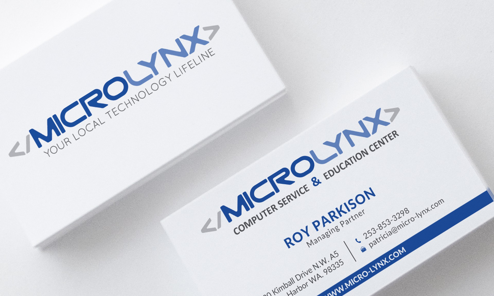 Business cards for computer and IT support company.