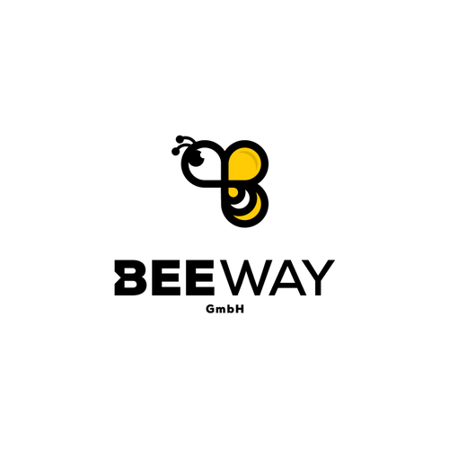 B Bee logo concept for BeeWay