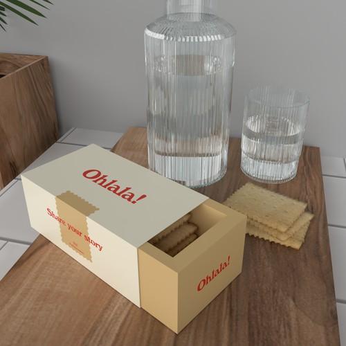 Diet cookie packaging design in minimal style