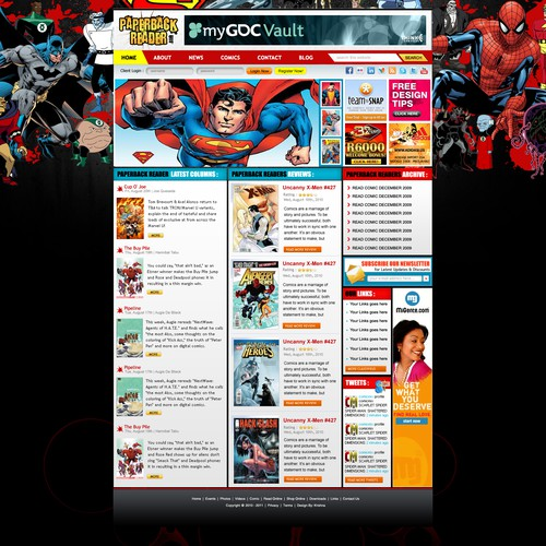 Comic Book Review Site Wordpress Template