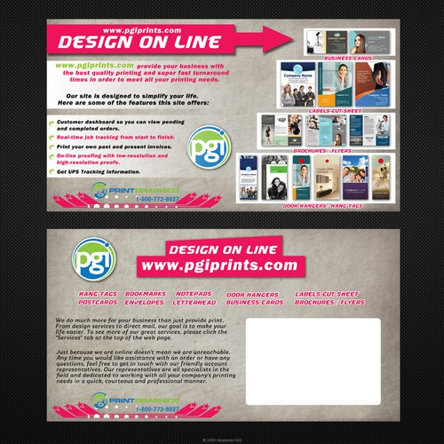 New postcard or flyer wanted for PrintGraphics