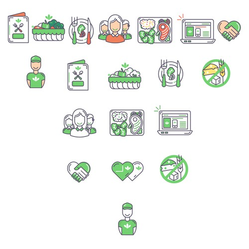 Icons For Healthy Food Website