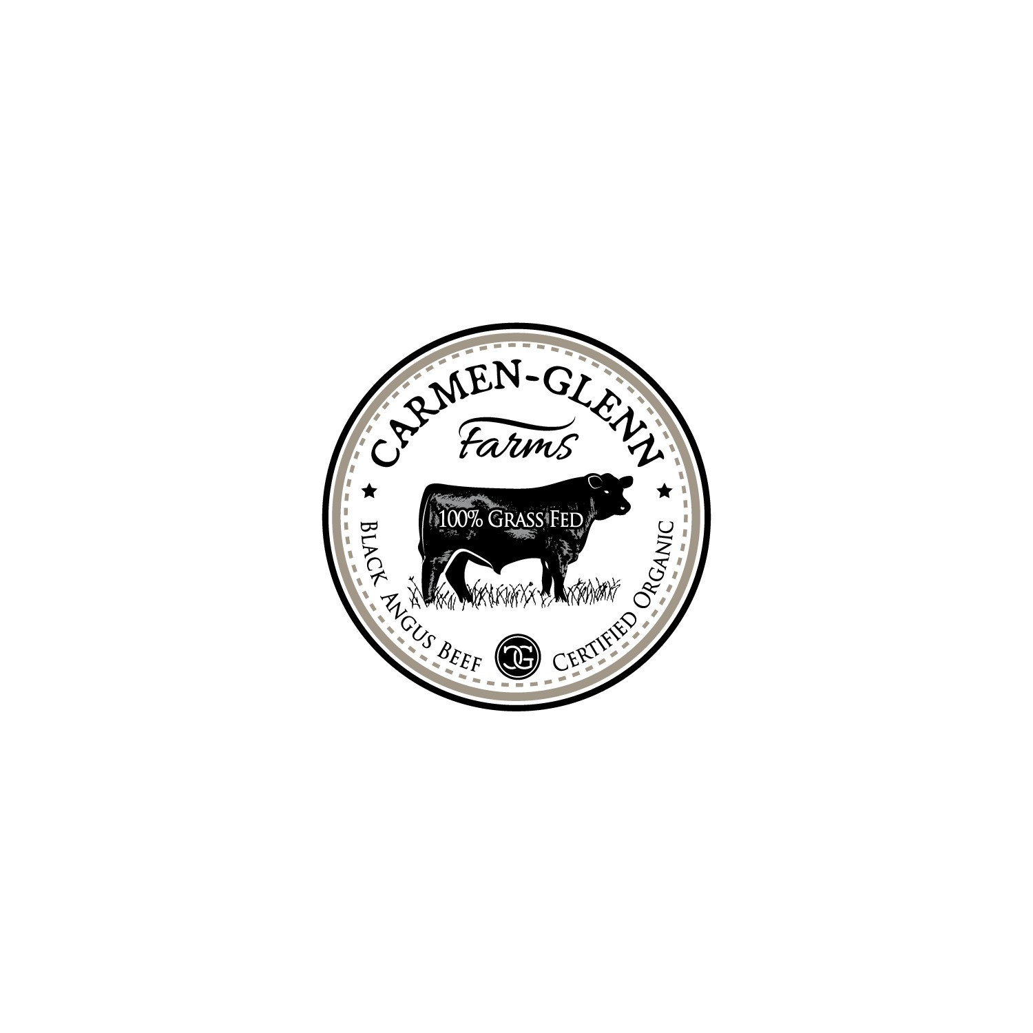 Design a Moooo-ving logo for a Certified Organic 100% Grass Fed Black Angus Cattle Farm