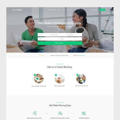Moving company website idea