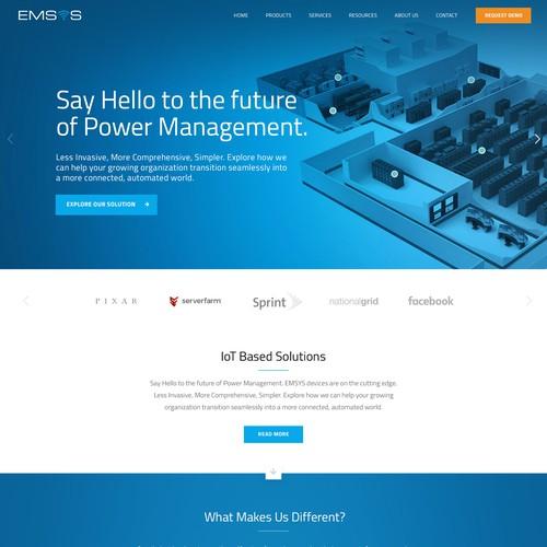 IoT company landing page design